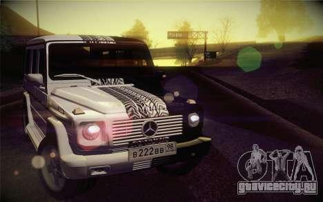 Mercedes-Benz G55 AMG для GTA San Andreas вид сзади