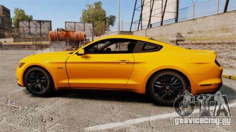 Ford Mustang GT 2015 v2.0 для GTA 4 вид слева
