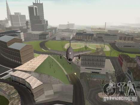 МиГ 15 Бис для GTA San Andreas вид изнутри