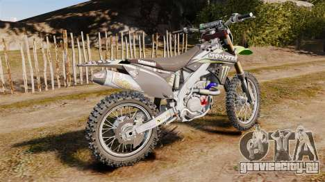 Kawasaki KX250F Monster Energy для GTA 4 вид слева