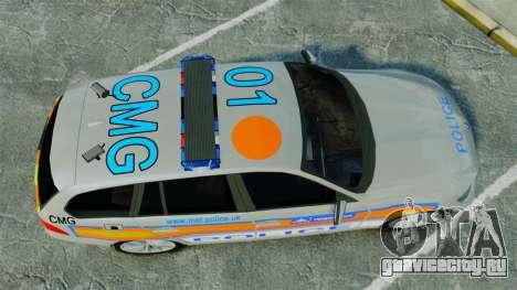 BMW 330i Touring Metropolitan Police [ELS] для GTA 4 вид справа