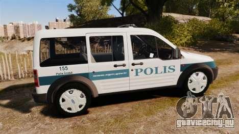 Ford Transit Connect Turkish Police [ELS] v2.0 для GTA 4 вид слева