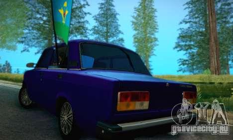 Ваз 2107 ВДВ для GTA San Andreas вид сзади слева