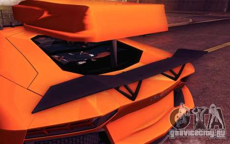 Lamborghini Aventador LP 700-4 для GTA San Andreas вид изнутри
