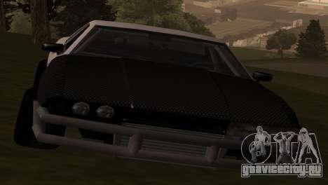 Elegy OriginalDrift для GTA San Andreas вид сзади слева