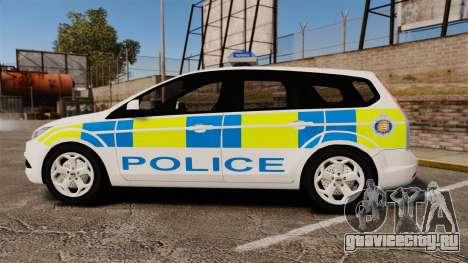 Ford Focus Estate Essex Police [ELS] для GTA 4 вид слева