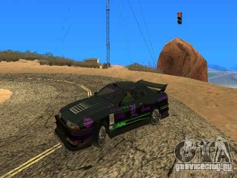 Винилы Luni Team для Elegy для GTA San Andreas вид сзади слева
