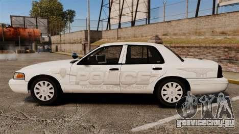 Ford Crown Victoria Traffic Enforcement [ELS] для GTA 4 вид слева