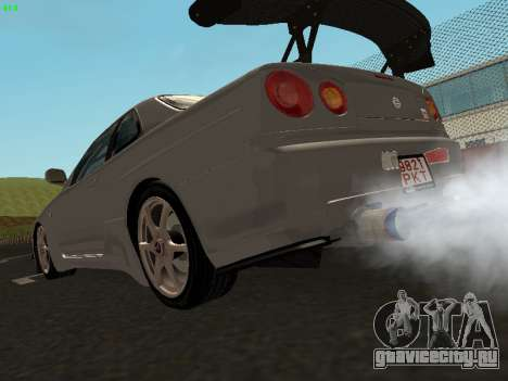 Nissan Skyline BNR34 для GTA San Andreas вид слева