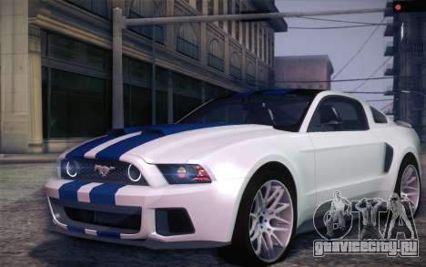 Ford Mustang 2013 - Need For Speed Movie Edition для GTA San Andreas вид слева