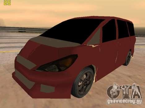 Toyota Estima 2wd для GTA San Andreas вид изнутри
