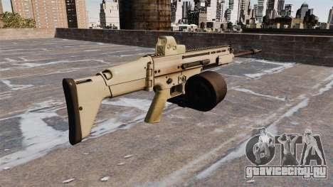 Автоматическая винтовка FN SCAR-H LMG для GTA 4 второй скриншот