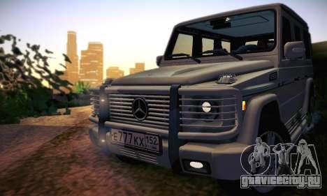 Mercedes-Benz G500 для GTA San Andreas вид снизу