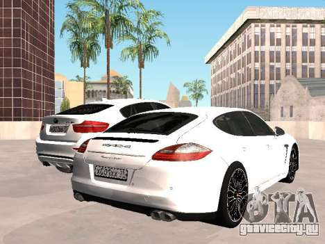 Porsche Panamera 2011 для GTA San Andreas вид сзади слева