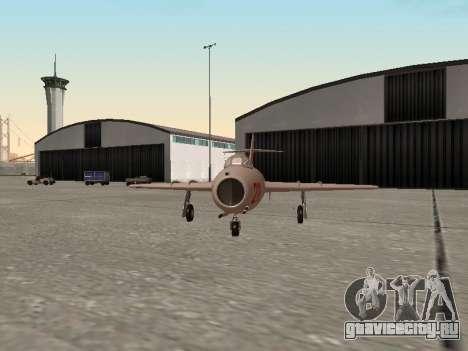 МиГ 15 Бис для GTA San Andreas вид сзади слева