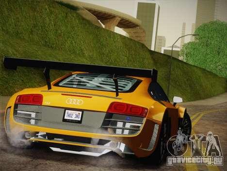 Audi R8 LMS Ultra W-Racing Team Vinyls для GTA San Andreas вид снизу
