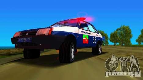 ВАЗ 21099 Милиция для GTA Vice City вид снизу