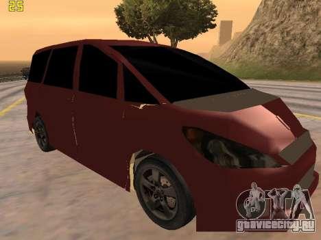 Toyota Estima 2wd для GTA San Andreas вид сзади слева