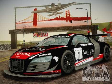 Audi R8 LMS Ultra W-Racing Team Vinyls для GTA San Andreas вид справа