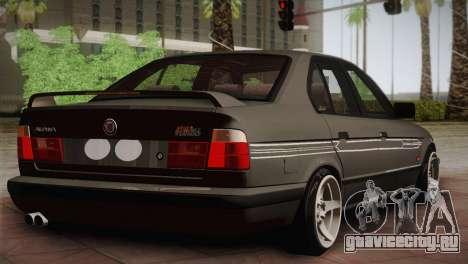 BMW E34 Alpina B10 для GTA San Andreas вид сзади слева