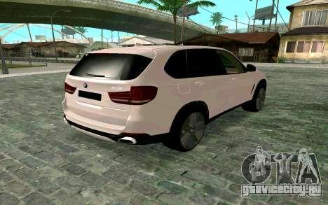 BMW X5 F15 для GTA San Andreas вид слева