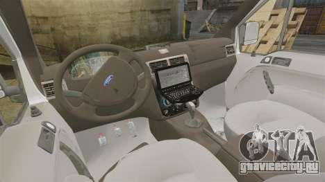 Ford Transit Connect Turkish Police [ELS] v2.0 для GTA 4 вид изнутри