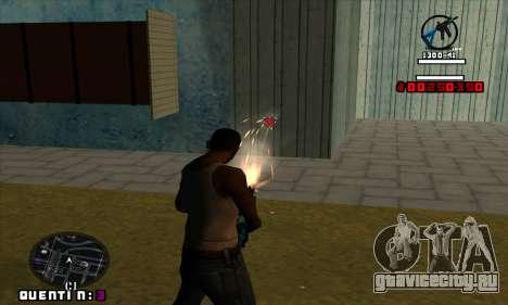 C-HUD Quentin для GTA San Andreas третий скриншот