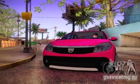 Dacia Sandero для GTA San Andreas вид сзади