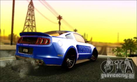 Ford Mustang GT 2013 v2 для GTA San Andreas вид справа
