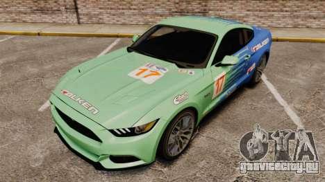 Ford Mustang GT 2015 v2.0 для GTA 4 вид сверху
