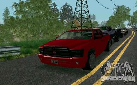 GTA V Bison Version 2 FIXED для GTA San Andreas вид сзади слева