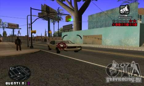 C-HUD Quentin для GTA San Andreas шестой скриншот