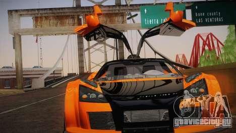 Gumpert Apollo Sport V10 для GTA San Andreas