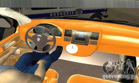 Volkswagen Transporter Policie для GTA San Andreas вид справа