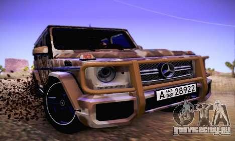 Mercedes Benz G65 Army Style для GTA San Andreas вид слева