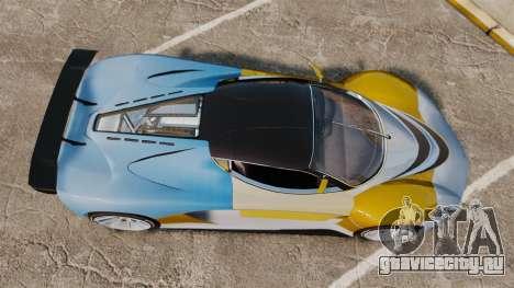 GTA V Grotti Turismo R для GTA 4 вид справа
