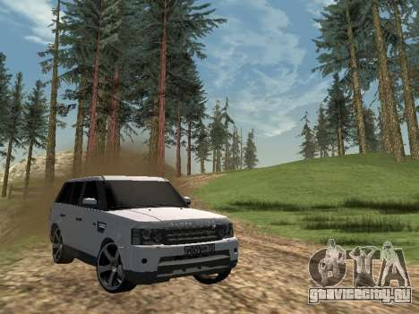 Range Rover Sport 2011 для GTA San Andreas вид слева