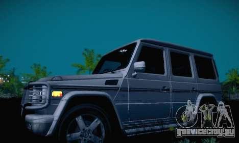 Mercedes-Benz G500 для GTA San Andreas вид изнутри