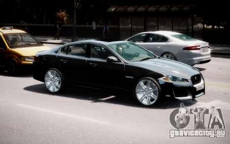 Jaguar XF-R 2012 v1.2 для GTA 4 вид сбоку