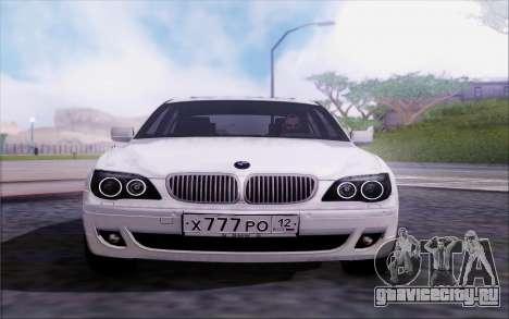 BMW 760Li E66 для GTA San Andreas вид сзади