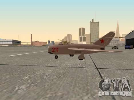 МиГ 15 Бис для GTA San Andreas вид слева