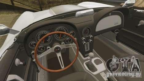 Chevrolet Corvette Stingray для GTA 4 вид сзади