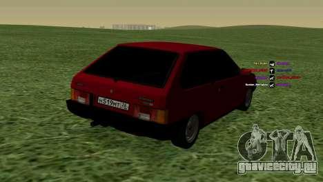ВАЗ-2108 для GTA San Andreas вид справа