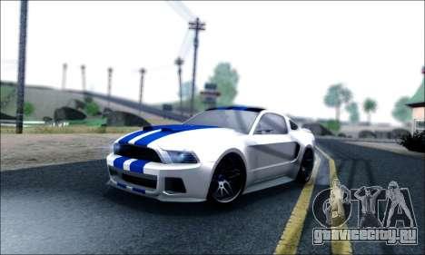 Ford Mustang GT 2013 v2 для GTA San Andreas салон