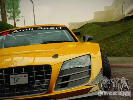 Audi R8 LMS Ultra W-Racing Team Vinyls для GTA San Andreas салон
