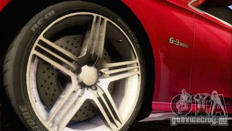 Mercedes-Benz CLS 63 AMG 2008 для GTA San Andreas вид сзади