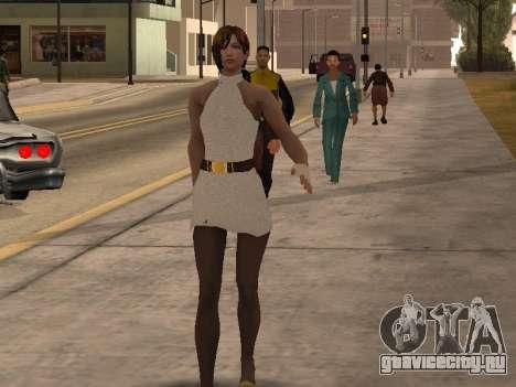 Девушка в белом платье для GTA San Andreas второй скриншот