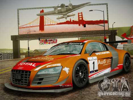 Audi R8 LMS Ultra W-Racing Team Vinyls для GTA San Andreas вид сбоку