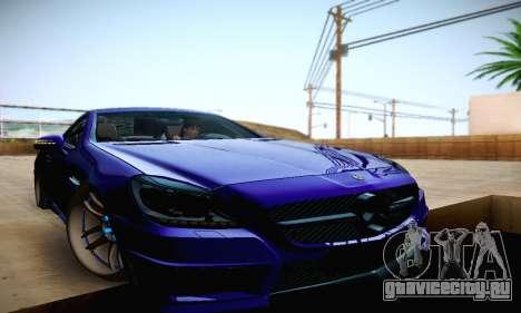 Mercedes Benz SLK55 AMG 2011 для GTA San Andreas вид сверху