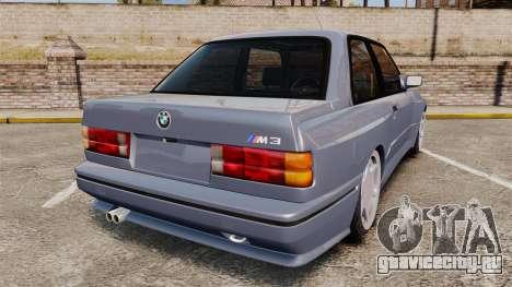 BMW M3 E30 для GTA 4 вид сзади слева
